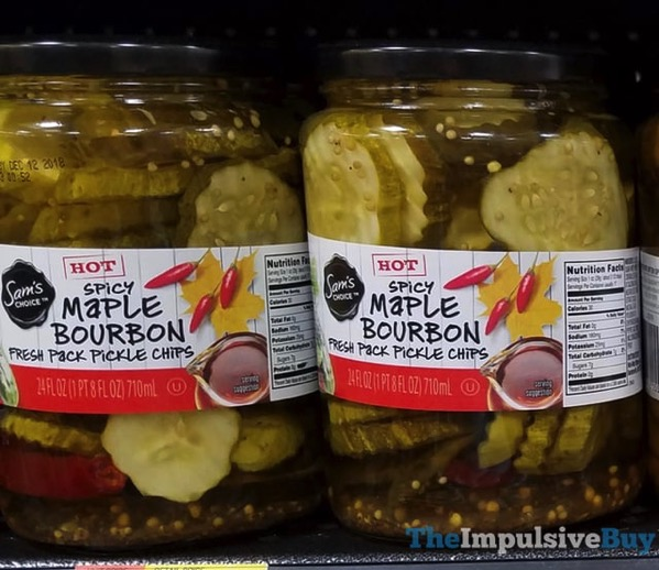 Sam s Choice Spicy Maple Bourbon Fresh Pack Pickle Chips