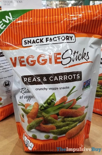 Snack Factory Veggie Sticks Pea  Carrots Crunchy Veggie Snacks
