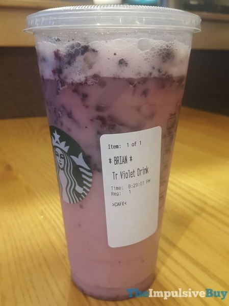 Review Starbucks Violet Drink The Impulsive Buy