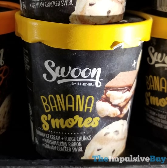 Swoon by H E B Banana S mores Ice Cream