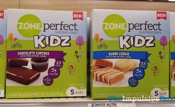 Zone Perfect Kidz Nutrition Bars  Chocolate Cupcake and Sugar Cookie
