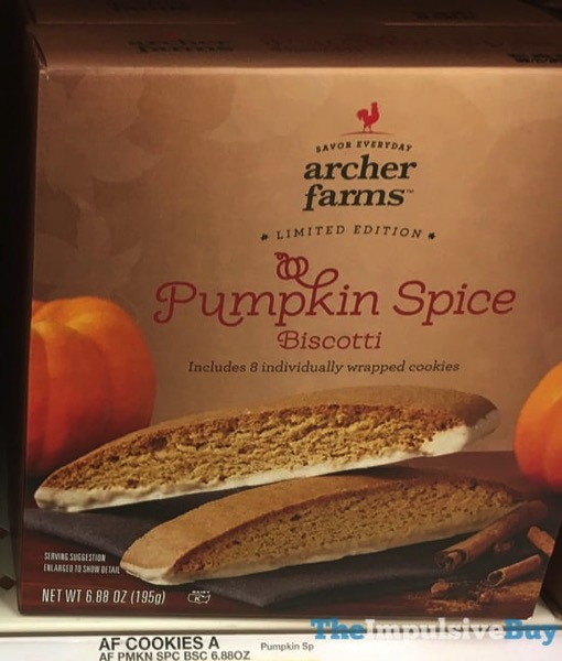 Archer Farms Limited Edition Pumpkin Spice Biscotti  2017