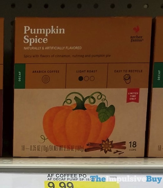 Archer Farms Pumpkin Spice K Cups  2017