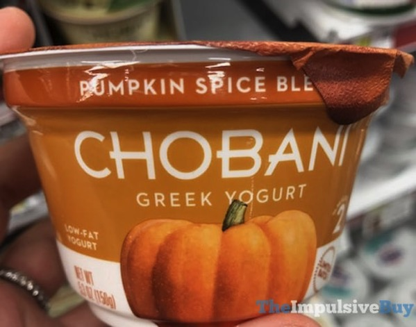 Chobani Limited Batch Pumpkin Spice Blended Greek Yogurt  2017
