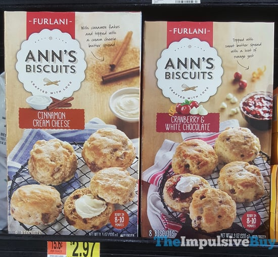 Furlani Foods Ann s Biscuits  Cinnamon Cream Cheese and Cranberry  White Chocolate
