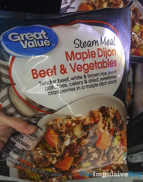 Great Value Steam Meal Maple Dijon Beef  Vegetables