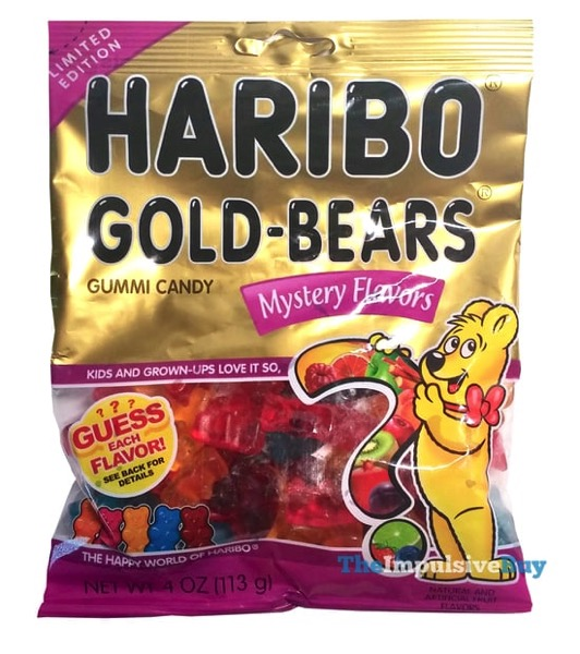 Limited Edition Haribo Gold Bears Mystery Flavors