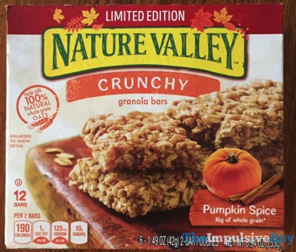 Nature Valley Limited Edition Pumpkin Spice Crunchy Granola Bars