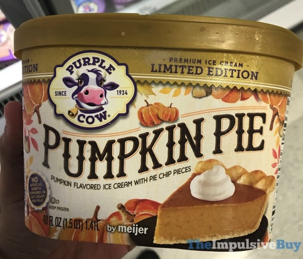 Purple Cow Limited Edition Pumpkin Pie Ice Cream  2017