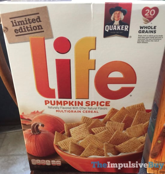 Quaker Limited Edition Pumpkin Spice Life Cereal  2017