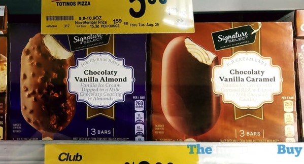 Signature Select Ice Cream Bars  Chocolaty Vanilla Almond and Chocolaty Vanilla Caramel