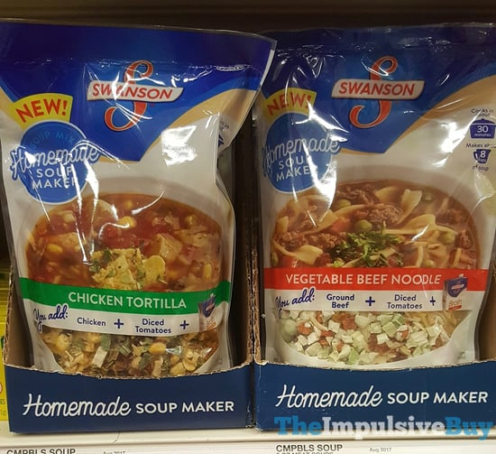 Swanson Homemade Soup Makers  Chicken Tortilla and Vegetable Beef Noodle