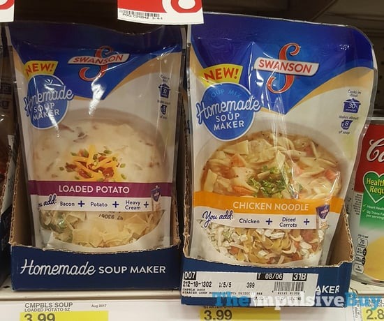 Swanson Homemade Soup Makers  Loaded Potato and Chicken Noodle