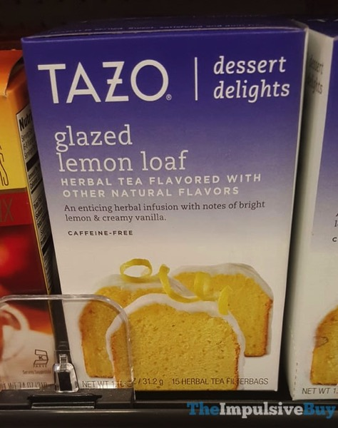 Tazo Dessert Delights Glazed Lemon Loaf Herbal Tea