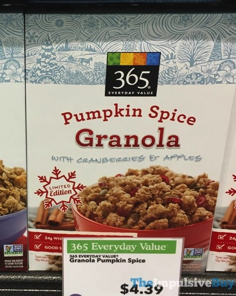 365 Everyday Value Limited Edition Pumpkin Spice Granola  2017