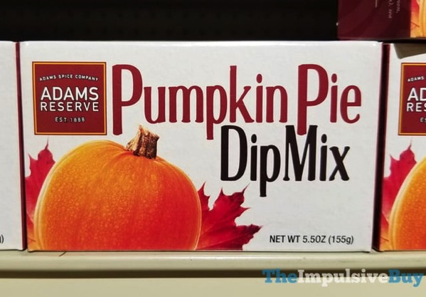 Adams Reserve Pumpkin Pie Dip Mix  2017
