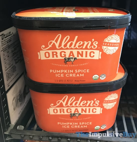 Alden s Organic Limited Edition Pumpkin Spice Ice Cream