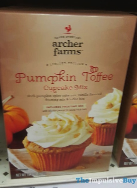 Archer Farms Limited Edition Pumpkin Toffee Cupcake Mix  2017