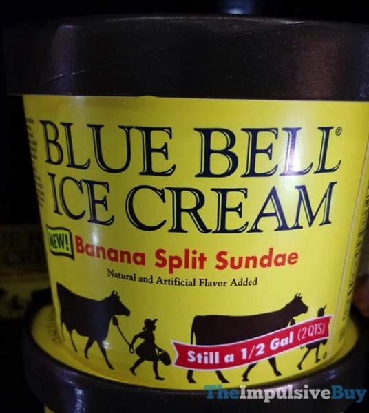 Blue Bell Banana Split Sundae Ice Cream
