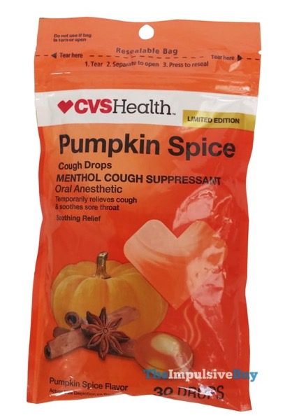 review cvs limited edition pumpkin spice cough drops the
