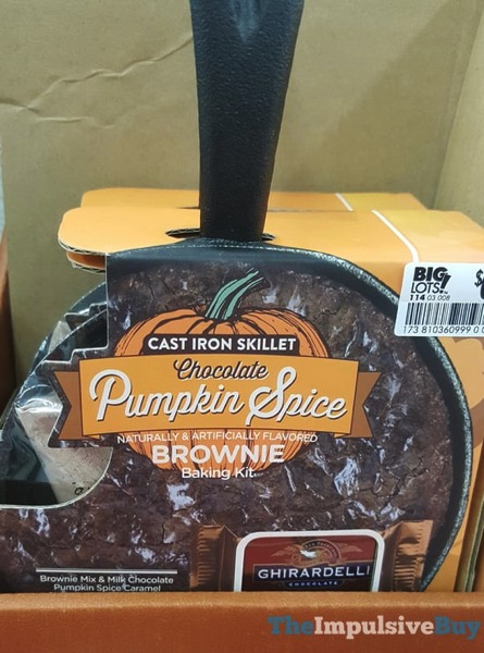 Cast Iron Skillet Chocolate Pumpkin Spice Brownie Baking Kit  2017