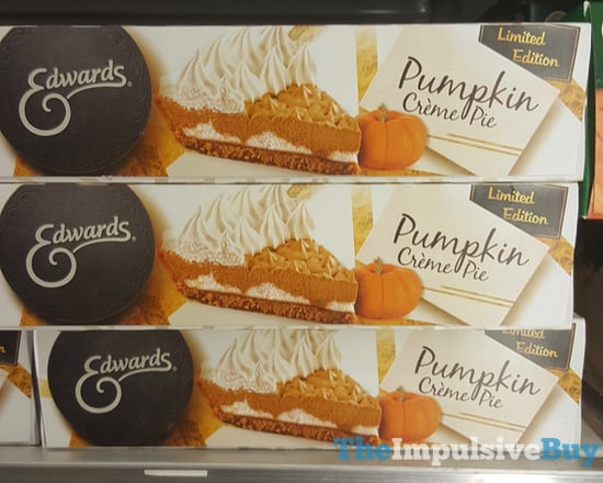 Edwards Limited Edition Pumpkin Creme Pie  2017