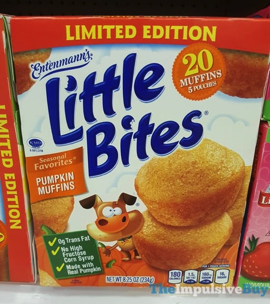 Entenmann s Limited Edition Little Bites Seasonal Favorites Pumpkin Muffins  2017