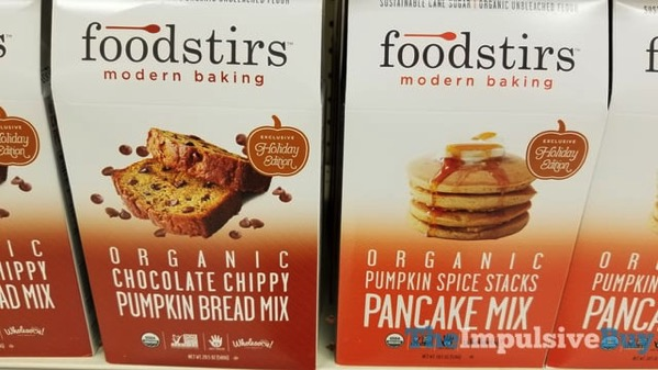 Foodstirs Organic Chocolate Chippy Pumpkin Bread Mix and Pumpkin Spice Pancake Mix