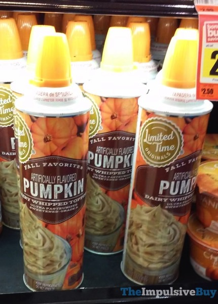 Giant Limited Time Originals Fall Favorites Pumpkin Dairy Whipped Topping