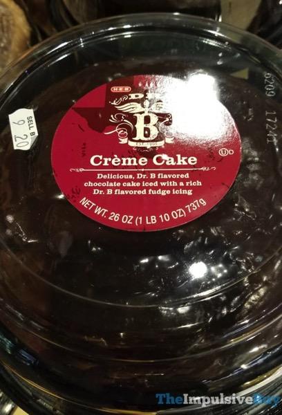 H E B Dr B Creme Cake