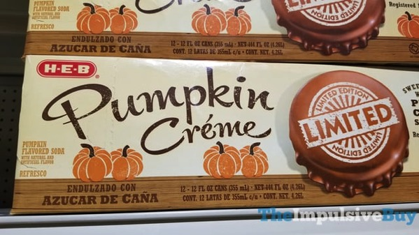 H E B Limited Edition Pumpkin Creme Soda  2017