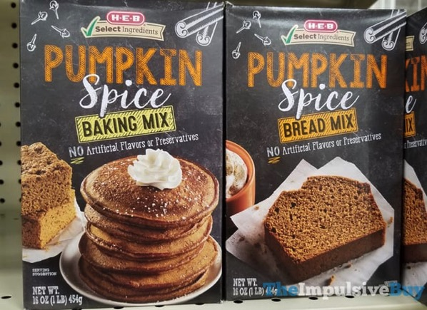 H E B Pumpkin Spice Baking Mix and Bread Mix  2017