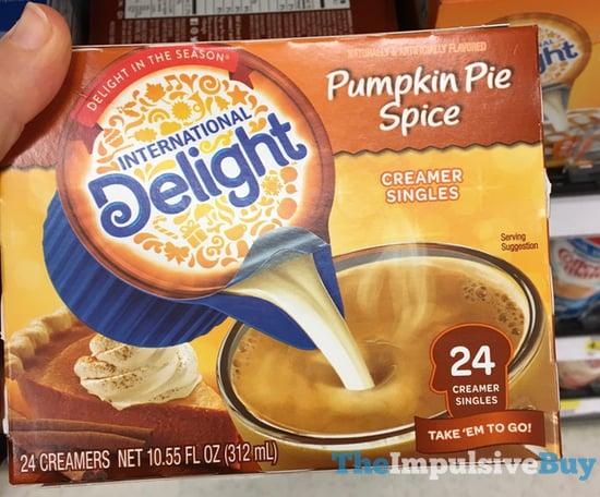 International Delight Pumpkin Pie Spice Creamer Singles  2017