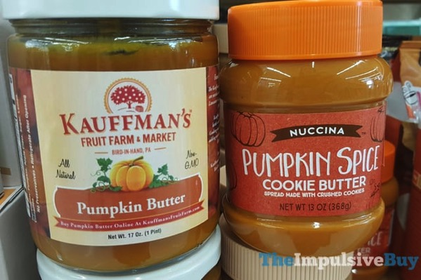 Kauffman s Pumpkin Butter and Nuccina Pumpkin Spice Cookie Butter  2017