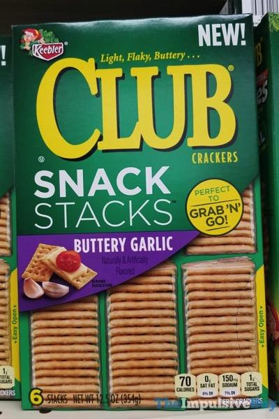 Keebler Butter Garlic Snack Stacks Club Crackers