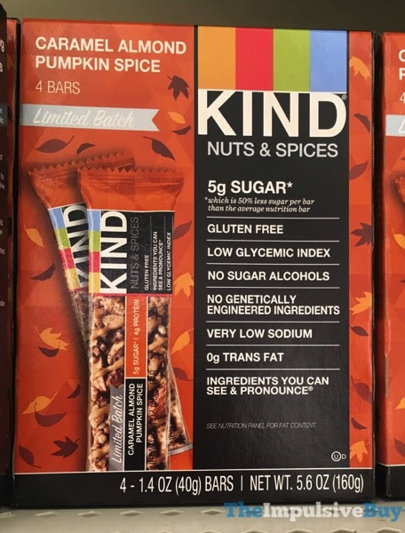 Kind Nuts  Spices Limited Edition Caramel Almond Pumpkin Spice Bar