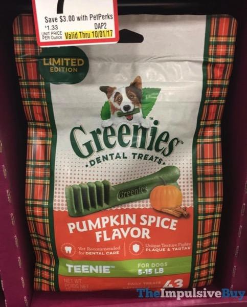 Limited Edition Pumpkin Spice Greenies Dog Dental Treats