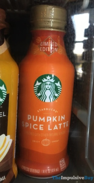 Limited Edition Starbucks Pumpkin Spice Latte  Bottled