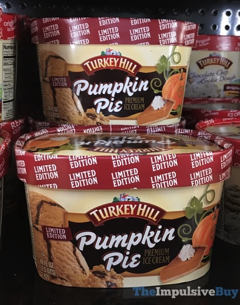 Limited Edition Turkey Pumpkin Pie Ice Cream  2017