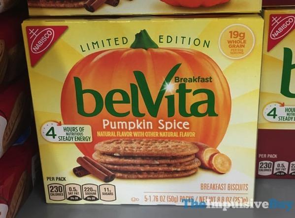 Limited Edition belVita Pumpkin Spice Breakfast Biscuits  2017