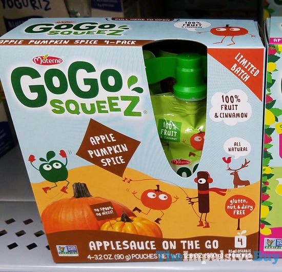 Materne GoGo Squeez Limted Batch Apple Pumpkin Spice Applesauce on the Go  2017