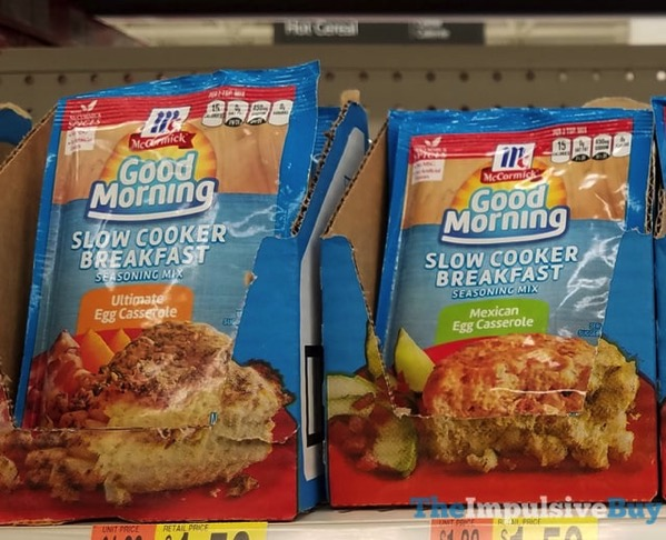 McCormick Good Morning Slow Cooker Breakfast Seasoning Mix  Ultimate Egg Casserole and Mexican Egg Casserole