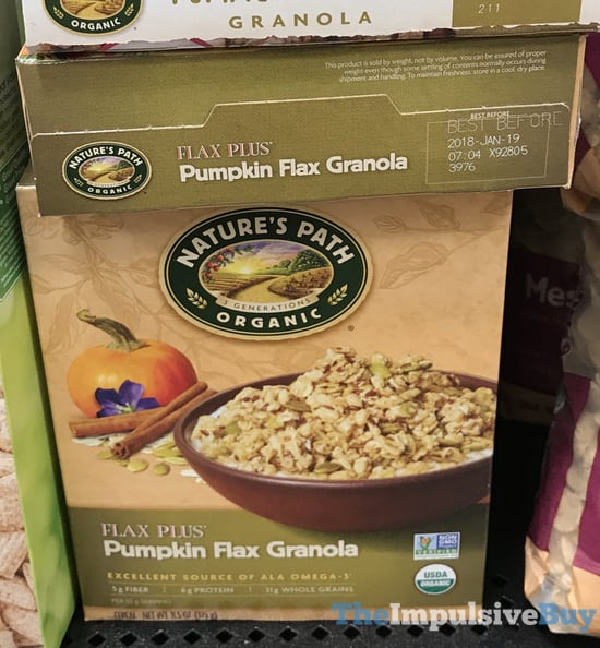 Nature s Path Flax Plus Pumpkin Flax Granola  2017