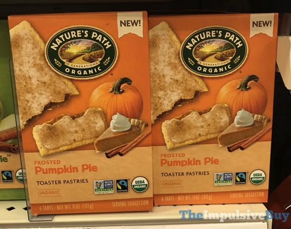Nature s Path Organic Frosted Pumpkin Pie Toaster Pastries  2017