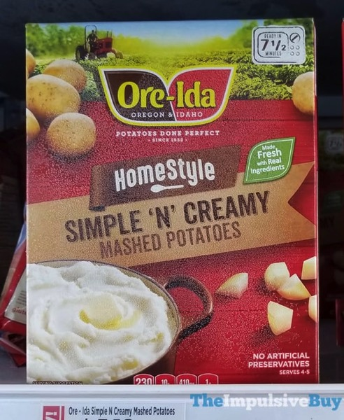 Ore Ida Homestyle Simple  N Creamy Mashed Potatoes