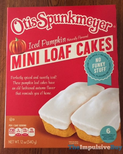 Otis Spunkmeyer Iced Pumpkin Mini Loaf Cakes