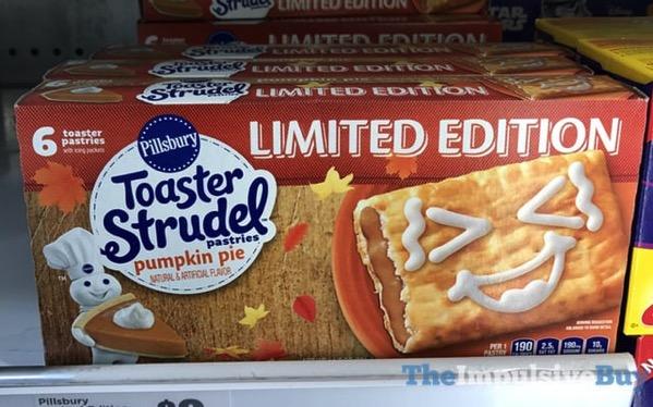 Pillsbury Limited Edition Pumpkin Pie Toaster Strudel Pastries  2017