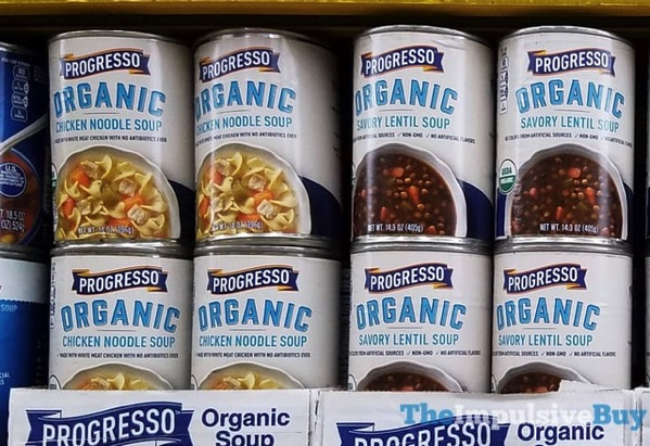 Progresso Organic Soups  Chicken Noodle and Savory Lentil