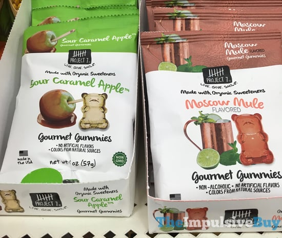 Project 7 Sour Caramel Apple and Moscow Mule Gourmet Gummies