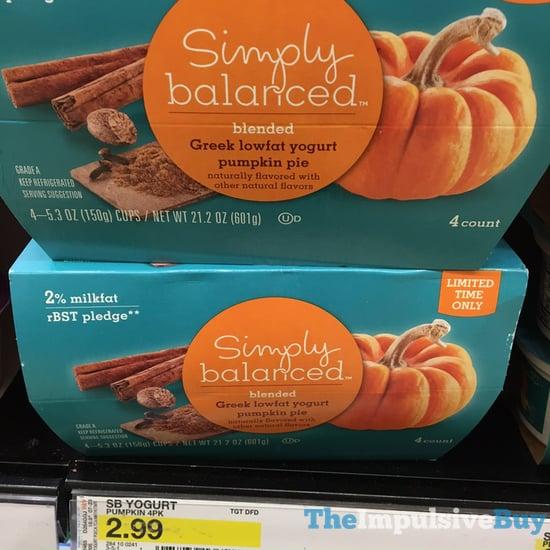 Simply Balanced Pumpkin Pie Greek Lowfat Yogurt  2017